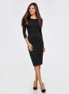 Платье облегающее с вырезом-лодочкой oodji #SECTION_NAME# (черный), 14017001-6B/47420/2900N - вид 2