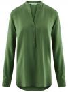 Блузка базовая из вискозы oodji #SECTION_NAME# (зеленый), 21412129-1/24681/6900N