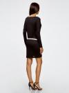 Платье трикотажное с ремнем oodji #SECTION_NAME# (черный), 14008010/15640/2900N - вид 3