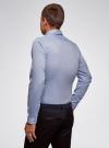 Рубашка базовая приталенная oodji #SECTION_NAME# (синий), 3B140002M/34146N/7000N - вид 3