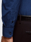 Рубашка базовая приталенная oodji #SECTION_NAME# (синий), 3B110019M/44425N/7975G - вид 5