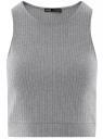 Топ укороченный в рубчик oodji для женщины (серый), 15F15001/46412/2300M
