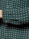 Блузка принтованная из шифона oodji #SECTION_NAME# (зеленый), 11400394-5/36215/6912G - вид 5