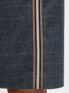Юбка прямая на завязках oodji для женщины (синий), 11600450/49376/7923C - вид 5