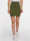 Комплект трикотажных юбок (3 штуки) oodji #SECTION_NAME# (зеленый), 14101001T3/46159/6900N - вид 2