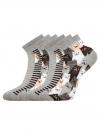 Комплект из шести пар хлопковых носков oodji для женщины (серый), 57102418-5T6/48418/15 - вид 2
