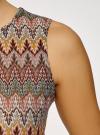 Топ из фактурной ткани с этническим узором oodji для женщины (коричневый), 15F05004/45509/3762E - вид 5