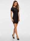 Платье трикотажное с коротким рукавом oodji для женщины (черный), 14011007/45262/2900N - вид 6