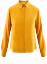 Блузка базовая из вискозы oodji #SECTION_NAME# (желтый), 11411136B/26346/5200N - вид 6