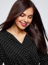 Платье вискозное с ремнем oodji #SECTION_NAME# (черный), 11900180B/48458/2910D - вид 4