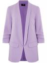 Жакет без застежки с рукавом 3/4 oodji для женщины (фиолетовый), 11207010-2B/18600/8000N