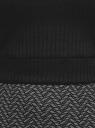 Топ укороченный в рубчик oodji для женщины (черный), 15F15001/46412/2900N