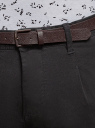 Брюки хлопковые с ремнем oodji #SECTION_NAME# (черный), 2B150145M/46240N/2900N - вид 4