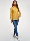 Рубашка хлопковая свободного силуэта oodji #SECTION_NAME# (желтый), 11411101B/45561/5200N - вид 6