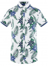 Рубашка принтованная с коротким рукавом oodji #SECTION_NAME# (белый), 5L301004M/46547N/1079F