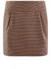 Юбка короткая с карманами oodji #SECTION_NAME# (бежевый), 11605056-2/22124/3337C