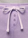 Брюки принтованные с завязками oodji #SECTION_NAME# (фиолетовый), 59807042-2/46154/8010D - вид 5