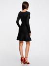 Платье вязаное с расклешенным низом oodji для женщины (черный), 63912223/46096/2900N - вид 3