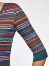 Платье жаккардовое с геометрическим узором oodji для женщины (разноцветный), 14001064-5/46025/7649G - вид 5