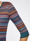 Платье жаккардовое с геометрическим узором oodji #SECTION_NAME# (разноцветный), 14001064-5/46025/7649G - вид 5