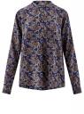 Блузка вискозная А-образного силуэта oodji для женщины (синий), 21411113B/26346/7930E