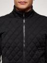 Куртка комбинированная с воротником-стойкой oodji для мужчины (черный), 5L911047M/48623N/2900N