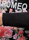 Свитшот с цветочным принтом и надписью oodji #SECTION_NAME# (черный), 14801001-5/45739/2947P - вид 5