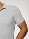 Поло из ткани пике (комплект из 2 штук) oodji для мужчины (серый), 5B422001T2/44032N/2009M