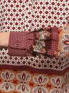 Блузка прямого силуэта с V-образным вырезом oodji #SECTION_NAME# (коричневый), 21400394-3/24681/1231E - вид 5