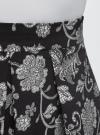 Юбка принтованная со встречными складками oodji #SECTION_NAME# (черный), 11600396-2B/45559/2912F - вид 4