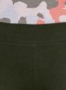 Легинсы базовые трикотажные oodji #SECTION_NAME# (зеленый), 18700046-2B/47618/6800N - вид 4