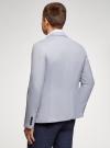 Пиджак приталенный на пуговицах oodji #SECTION_NAME# (синий), 2L420261M/49145N/7010O - вид 3