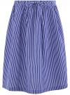 Юбка миди с мягкими складками oodji #SECTION_NAME# (синий), 13G00014/49224/7810S