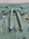 Брюки трикотажные на завязках oodji #SECTION_NAME# (зеленый), 16701042-1B/46919/6C83O - вид 4