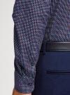 Рубашка принтованная приталенного силуэта oodji #SECTION_NAME# (синий), 3L110210M/19370N/7949G - вид 5