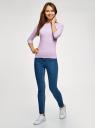 Футболка базовая с рукавом 3/4 oodji для женщины (розовый), 24211001B/45297/8010S