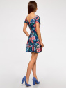 Платье приталенное с V-образным вырезом на спине oodji #SECTION_NAME# (разноцветный), 14011034B/42588/7945F - вид 3