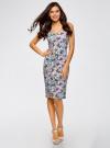 Платье-майка трикотажное oodji #SECTION_NAME# (разноцветный), 14015007-3B/37809/1241U - вид 2