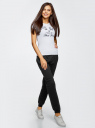 Комплект трикотажных брюк (2 пары) oodji #SECTION_NAME# (разноцветный), 16700030-15T2/47906/19JAN - вид 6