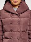 Пальто стеганое с объемным воротником oodji для женщины (красный), 10204049-1B/24771/3102N - вид 4