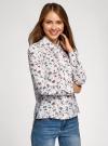 Блузка вискозная с декоративными завязками oodji #SECTION_NAME# (разноцветный), 11411118/24681/3079F - вид 2