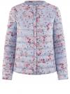 Куртка стеганая с круглым вырезом oodji для женщины (синий), 10204040-1B/42257/7019F