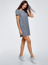 Платье джинсовое прямого силуэта oodji для женщины (синий), 12909048-2/46383/7500W