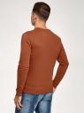 Свитшот базовый хлопковый oodji для мужчины (коричневый), 5B113002M/46738N/3700N
