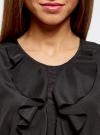 Топ с воланами и вырезом-капелькой на спине oodji для женщины (черный), 11401265/47190/2900N - вид 4