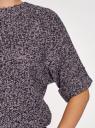 """Джемпер меланжевый с рукавом """"летучая мышь"""" oodji для женщины (черный), 63803057-1/43617/2980X"""