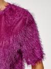 Блузка ворсистая с вырезом-капелькой на спине oodji #SECTION_NAME# (розовый), 14701049/46105/4700N - вид 5