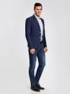 Пиджак приталенный с накладными карманами oodji #SECTION_NAME# (синий), 2B510005M/39355N/7500N - вид 6