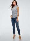 Рубашка базовая без рукавов oodji #SECTION_NAME# (синий), 11405063-4B/45510/1079E - вид 6