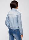 Куртка джинсовая со значками oodji #SECTION_NAME# (синий), 11109031/46654/7000W - вид 3